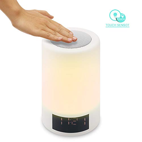xingganglengyin Wireless Bluetooth Speaker Smart LED Bedside Light Touch Colorful Light with Alarm Clock Display Subwoofer by xingganglengyin (Image #8)