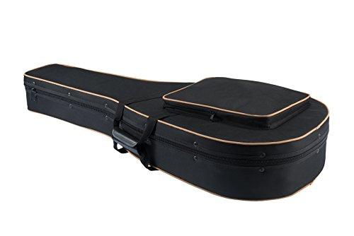 Black Dreadnought Guitar Case - Knox Gear KN-SGC01 Acoustic Dreadnought Guitar Lightweight Hard-Foam Case w/ Back Straps, black