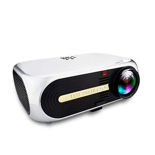 GYTOO Projector, Mini Portable Video Projector HD, 1080P, LED, Built-in Speaker, Health Eye Protection, Red and Blue 3D, Home Entertainment, Party and Game ()