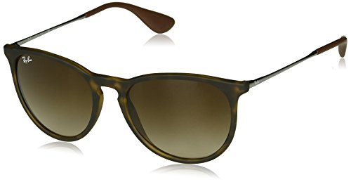 RAY-BAN Erika Square Sunglasses, Tortoise/Brown Gradient, 54 mm (Ray-ban Erika)