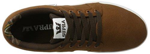 Supra Ineto Men Round Toe Leather Black Skate Shoe Brown/White 8HpKIiSc