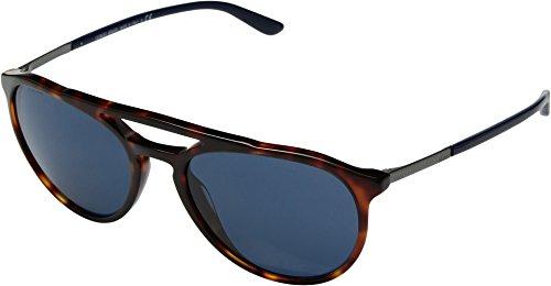 Giorgio Armani  Men's 0AR8105 Red Havana/Blue One - 9 Giorgio Sunglasses