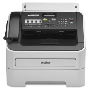 Super G3 Fax Machine (Brother IntelliFax-2840 High-Speed Laser Fax - Laser - Monochrome Sheetfed Digital Copier - 20 cpm Mono - 300 x 600 dpi - 250 Sheets Input - Plain Paper Fax - Corded Handset - 33.60 Kbps Modem - FAX-2840)