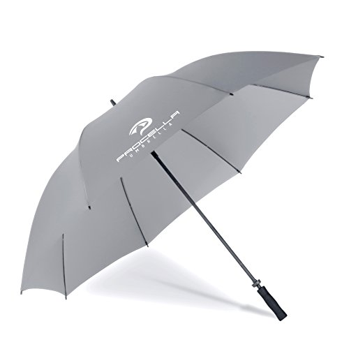 Procella Golf Umbrella Windproof 68 Inch Large for Sports, Men & Women, Waterproof Rain Stick Umbrellas (Gray, 68 Inch Single Canopy)