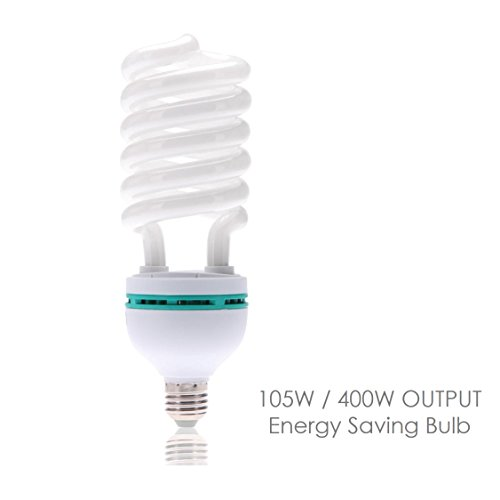 105w Cfl - LimoStudio Full Spectrum Light Bulb 105 Watt 5500K CFL Daylight Bulb White Balanced Light, LMS697