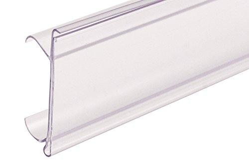 (FFR Merchandising 4405694101 Data Strip Label Holder for Metro/Interlock Shelving, Clear (Pack of 50))