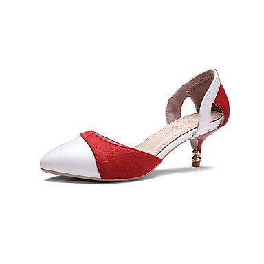 Zapatos de tacones de las mujeres Primavera Verano Otoño Invierno Confort de cuero y de oficina Partido Carrera y Noche Tacón de aguja Casual Otros Marrón Rojo Gris Red