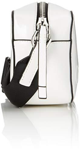 Klein Camera bright A Calvin Borse Bag Tracolla White S Edged Bianco Donna CqnnxwdUE