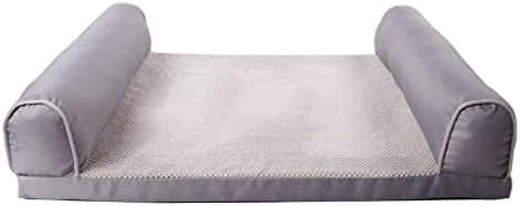 WZF Pet House Golden Retriever Four Seasons Dog Bed Detachable Dog Mat (Color: A, Size: 120 89 20 cm)