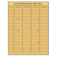 Light Brown Kraft String (* Light Brown Kraft String & Button Interoffice Envelope, 10 x 13, 100/B)