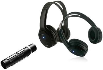 BeeWi BBX202A0 - Pack Duo de 2 Auriculares estéreo inalámbricos y transmisor, negro: Amazon.es: Electrónica