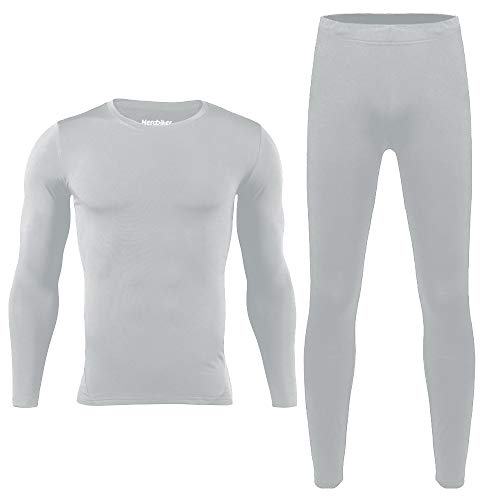 HEROBIKER Mens Thermal Underwear Set Skiing Winter Warm Base Layers Tight Long Johns Top and Bottom Set with Fleece Lined