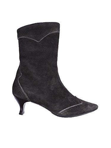 "Aquatalia Lady Boot Womens Black 2"" Heel Suede Weatherproof Ankle Boots, Booties Size 7 US"