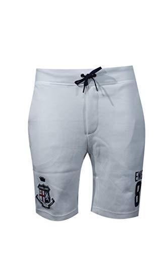 Polo Ralph Lauren Mens Country Logo Sports Shorts (Medium, White England)