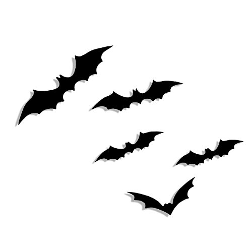 [FOOMO 12PCS 3D DIY Wall Decor Decoration Wall Stickers 3D Bat for Home, Party, Halloween, Christmas] (Diy Halloween Decor)