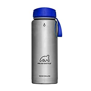 Polar Bottle Thermaluxe Vacuum Insulated Stainless Steel Thermos Travel Mug, Royal Blue, 22 oz. .