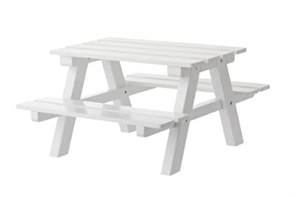 White Wooden Doll Picnic Table Fits 18u0026quot; American Girl Dolls Furniture  U0026 Accessories