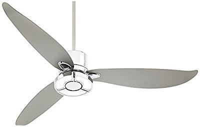 """56"""" Vengeance LED Chrome Ceiling Fan"""
