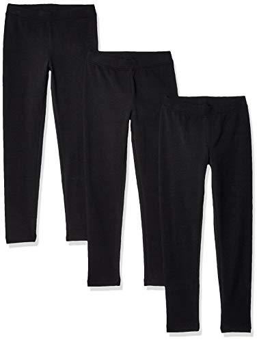 Amazon Essentials    Girls' 3-Pack Leggings, Black, XS (5)