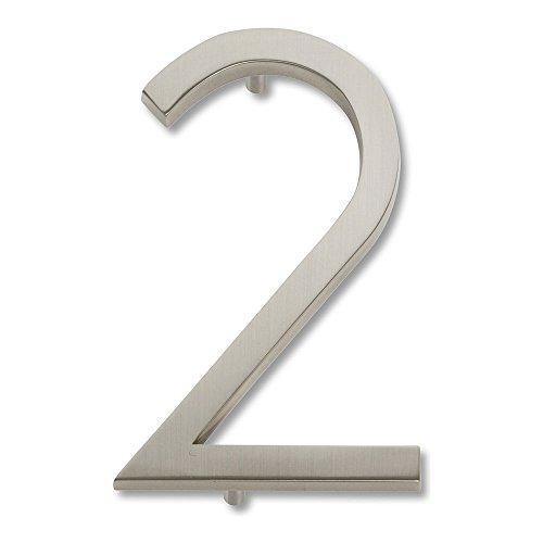 brushed nickel numbers - 8