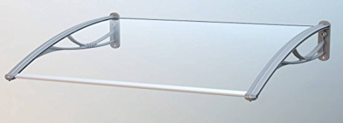 Sturdy Strong Built and Durable Clear and Silver Door Canopy 1.35m width (CP0005) Grand Group International