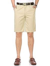 Men's 100% Cotton Thin Summer Classic-Fit Dress Shorts