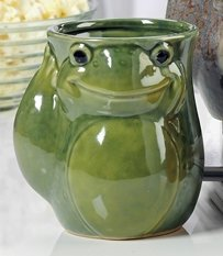 Ceramic Right or Left Hand Warmer Mug in Various Animal Designs (Frog, Right-Handed) (Hand Clearance Mugs Warmer)