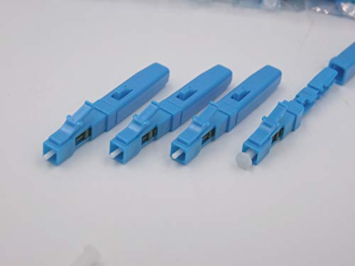 Gimax 100pcs New LC/UPC Rapid Optical Fiber Fast Connector LC indoor Cold Splice LC FOR Leather Rope fiber Special Wholes to Russia - (Color: Sky Blue) ()