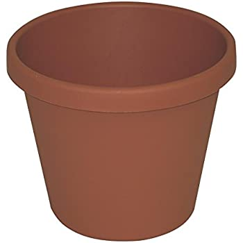 """AKRO-MILS Classic Pots, 9"""" outside dimension, clay"""