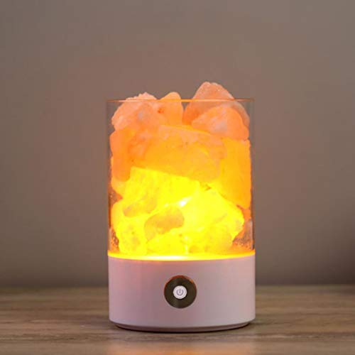 Bluefringe Night Light M2 Himalayan Crystal Salt Lamp Natural Negative Ion USB Charging Creative Gift by Bluefringe (Image #3)