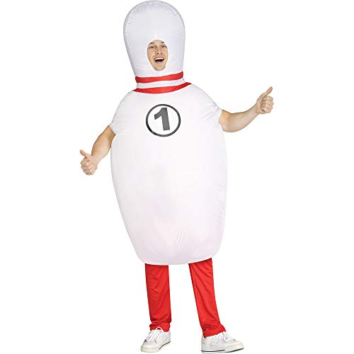 Fun World Adult Bowling Pin Inflatable Costume White