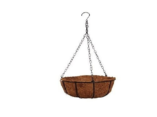 Garden Collection 10 inch Hanging Wire Basket and 10 inch Round Coco Liner Bundle Summer Garden Collection