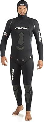 Cressi Apena Men Complete Wetsuit 3.5mm Traje Profesional de Apnea y Pesca, Hombre