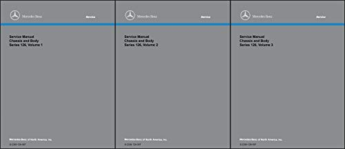 1981-1991 Mercedes 126 Chassis and Body Repair Shop Manual Reprint Set