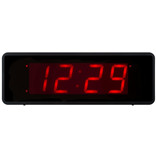 Kwanwa Cordless Digital Alarm Clock With Large 1.4'' Red LED Numbers Display And Battery Operated Only