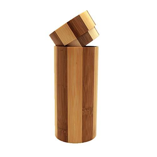 FiedFikt Caja organizadora de gafas de sol de madera de bambú ...