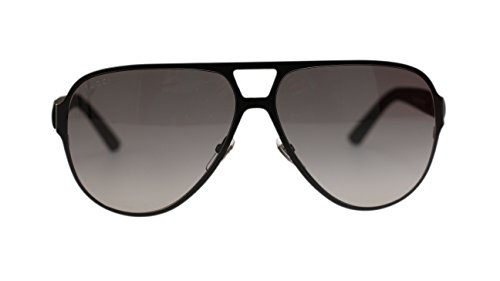 Gucci Men's Sunglasses GG2252 M7A Black Matte/Grey Lens Aviator 62mm - Shades White Gucci