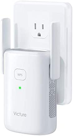 Victure 1200Mbps WiFi Booster for Home, WiFi Extender with Ethernet Port, 2.4G&5G Dual Band WiFi Repeater, WPS, Simple Setup, to Provide a Stable Network for Online Working