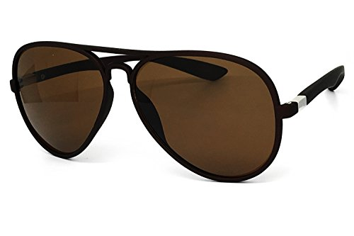 O2 Eyewear 539 Soft Matte Finish Mirror Aviator Vintage Hippie Retro Candy Revo Flat Top Sunglasses (Matte Finish, - Uv Difference And Between Polarized Protection