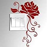 Adesivi vinile decorativo wall decor sticker per spina e interruttore, 20 colori di scegliere