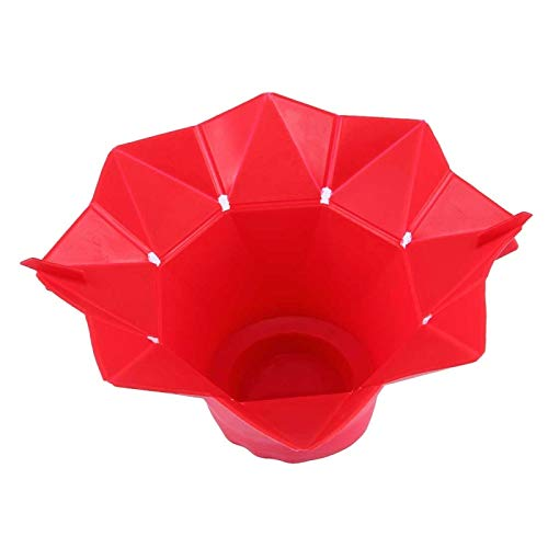 Microwave Popcorn - Foldable Silicone Microwave Popcorn Maker Red - Value Natural Dispenser Cheese Kernels Bowl Cover Halloween Popper Single