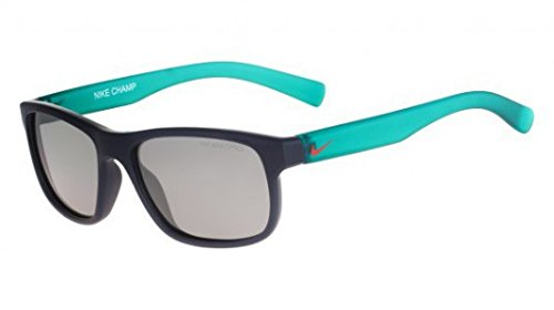 Nike Golf Champ Sunglasses, Squadron Blue/Hot Lava Frame, Grey with Silver Flash Lens by Nike Golf