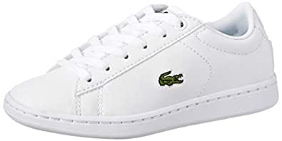Lacoste Carnaby EVO 119 7 Fashion Shoes, WHT/WHT, 1 US