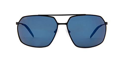 Costa Pilothouse Matte Black Titanium Frame Blue Lens Men's Sunglasses PLH11OBMP