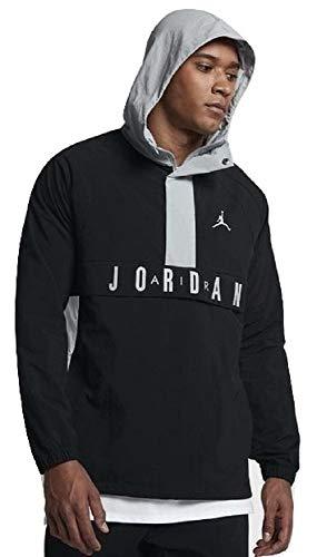Jordan Nike Air Wings Anorak Black/Gray Pullover Wind Jacket Size - Jordan Hoody Jacket Air