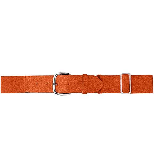 Augusta Sportswear Kids Elastic Baseball Belt, Orange, One Size