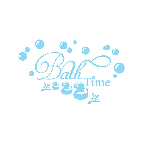 Sunshinehomely Wall Stickers,Bath Time Home Decor Wall Sticker Decal Bedroom Vinyl Art Mural Decor Decal Removable (Blue)