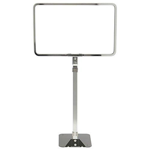 HUBERT Flat Stem Sign Holder With Adjustable Stem Chrome-Plated Steel 7'' H x 11'' L by Hubert