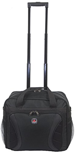 AMARO briefcase on wheels,wheeling briefcase,wheeled briefcase- Black by Amaro