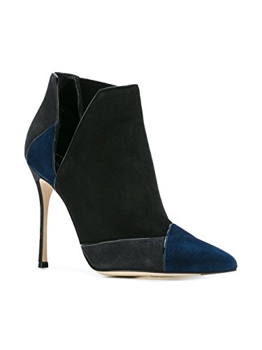 A75190MAF9104122 Noir À Talons Femme Suède Sergio Rossi Chaussures v8Un7qxZw